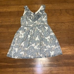 gap sleeveless dress size 16 abstract fit & flare